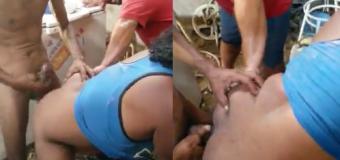 Mendigo tenta comer cu