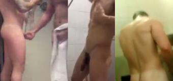 Homens Tomando Banho no Vestiário Masculino
