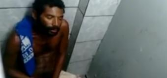 Mendigo dotado flagrado na punheta
